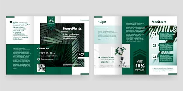 Design de brochura com três dobras mínima