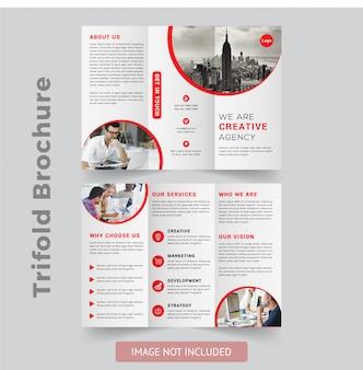 Design de brochura com três dobras profissional