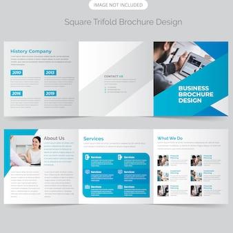 Design de brochura com três dobras quadrada de negócios