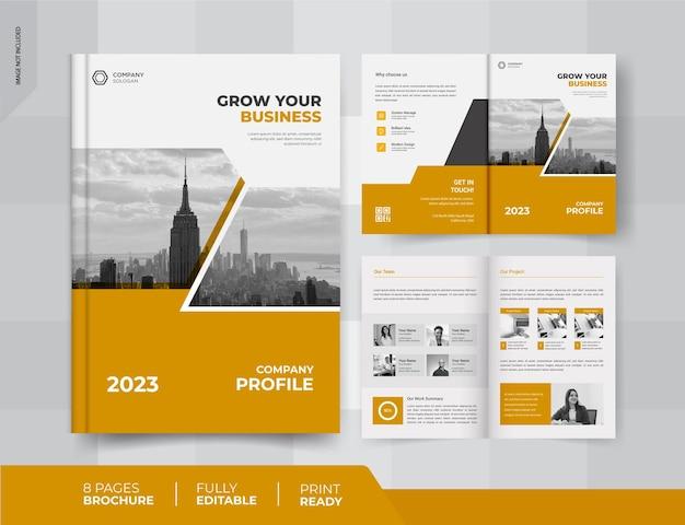 Design de brochura comercial de 04 páginas