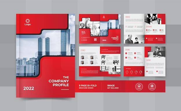 Design de brochura comercial de 08 páginas