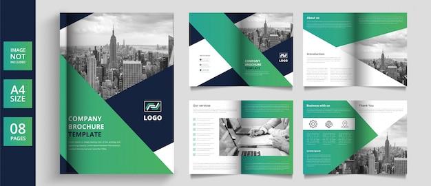Design de brochura comercial de páginas modernas