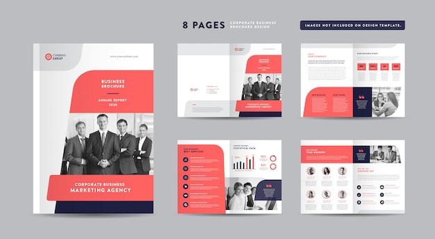 Design de brochura comercial de páginas | relatório anual e perfil da empresa | modelo de design de livreto e catálogo