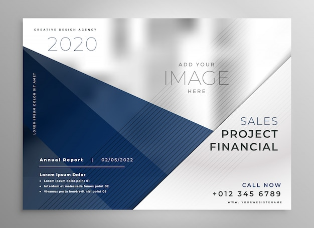 Design de brochura comercial geométrica abstrata