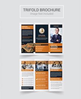 Design de brochura corporativa com três dobras