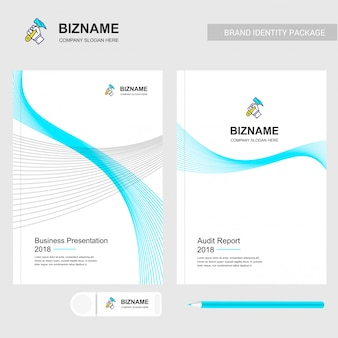 Design de brochura da empresa