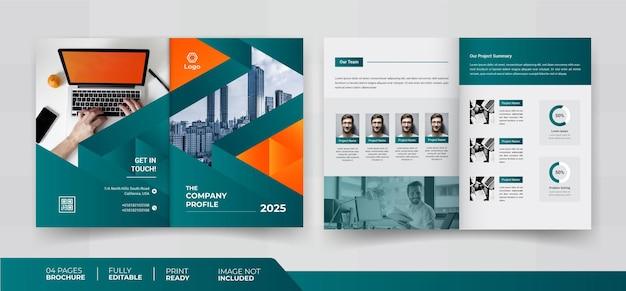 Design de brochura de 04 páginas