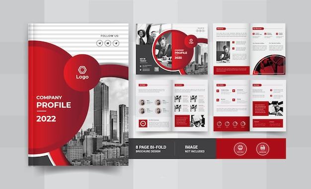 Design de brochura de 08 páginas