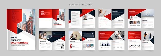 Design de brochura de 16 páginas