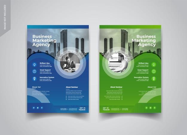 Design de brochura de 4 páginas