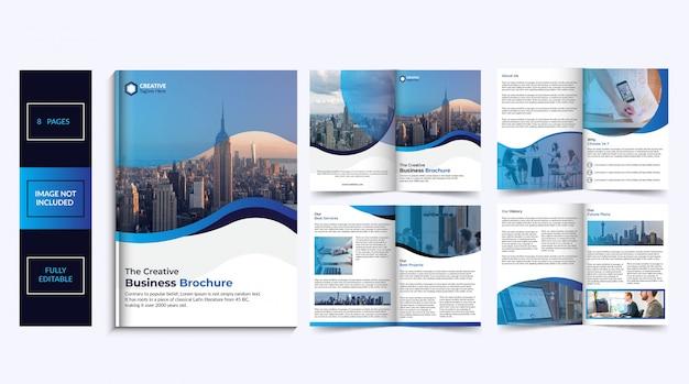 Design de brochura de 8 páginas