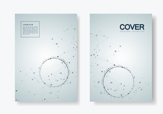 Design de brochura de ciência, medicina e tecnologia