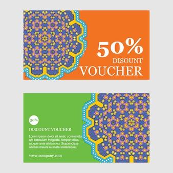 Design de brochura de descrições de 50%