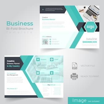Design de brochura de dobra bi abstrato