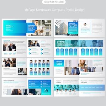 Design de brochura de empresa de paisagem