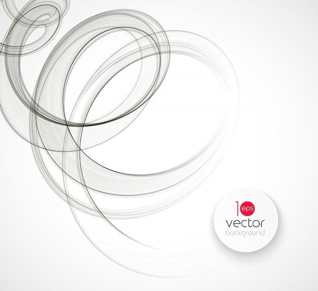 Design de brochura de fundo abstrato modelo onda transparente