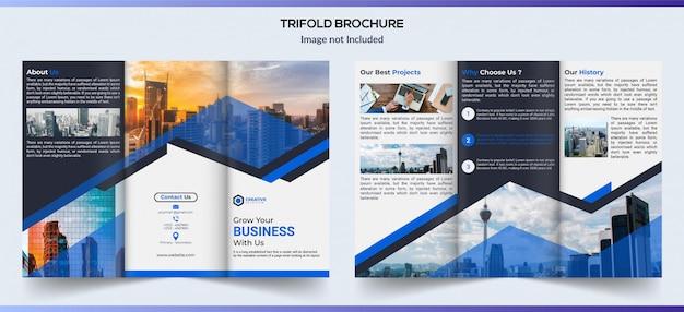 Design de brochura de negócios com três dobras