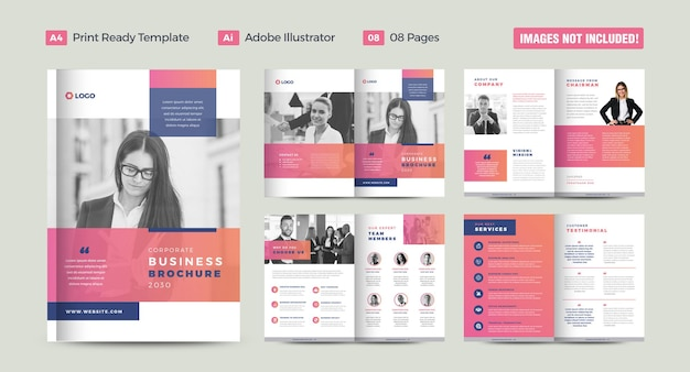 Design de brochura de negócios corporativos ou relatório anual e design de perfil da empresa ou design de catálogo e livreto