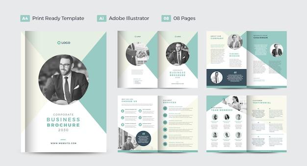 Design de brochura de negócios corporativos ou relatório anual e design de perfil da empresa ou design de livreto e catálogo