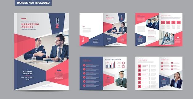 Design de brochura de negócios corporativos ou relatório anual e perfil da empresa ou design de catálogo de livreto