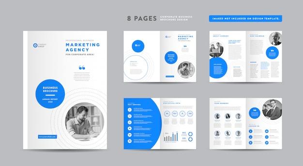 Design de brochura de negócios corporativos | relatório anual e perfil da empresa | design de livretos e catálogos