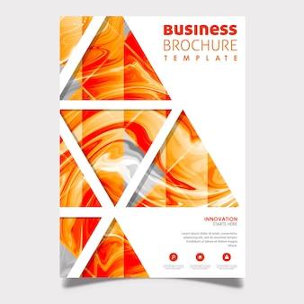 Design de brochura de negócios de mármore abstrato
