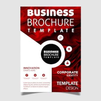Design de brochura de negócios de textura de mármore