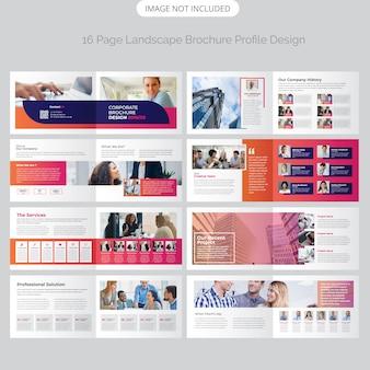 Design de brochura de paisagem de página