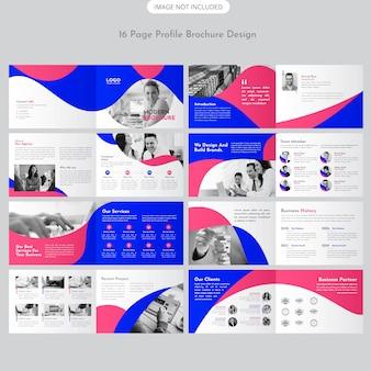 Design de brochura de paisagem