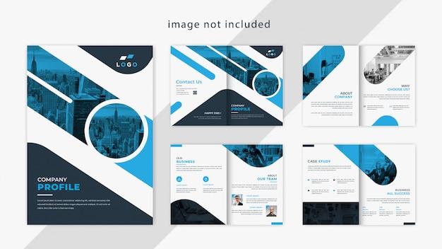 Design de brochura de perfil de empresa moderna