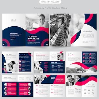 Design de brochura de perfil de empresa