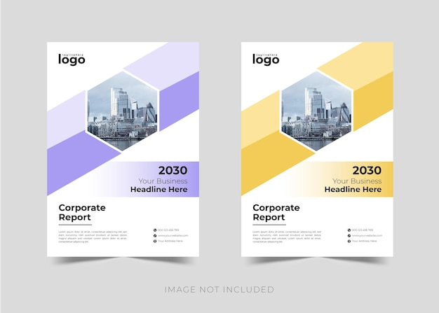 Design de brochura de relatório anual de negócios corporativos e modelo de design de capa de livro