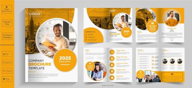 Design de brochura de resumo de 8 páginas brochura de perfil da empresa designhalffold brochurebifold brochure