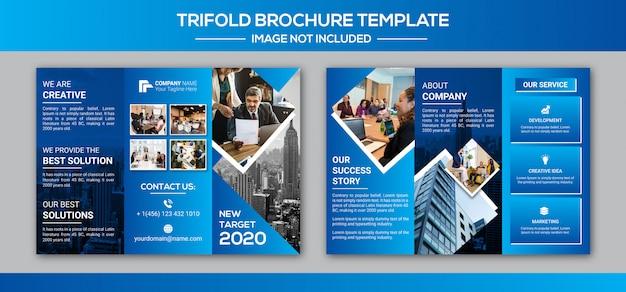 Design de brochura de três dobras de negócios corporativos