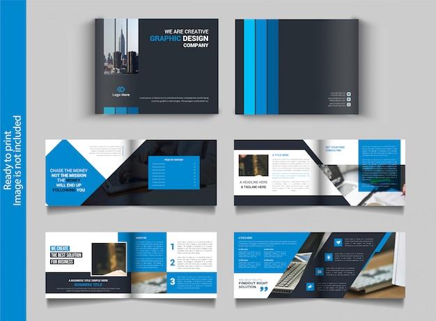 Design de brochura dupla multifuncional