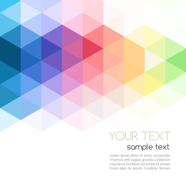 Design de brochura modelo abstrato com fundo geométrico