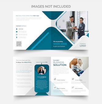 Design de brochura profissional com duas dobras e novo visual incrível