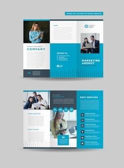 Design de brochura tripla de negócios corporativos
