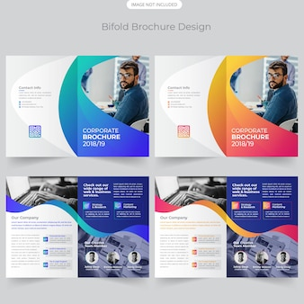 Design de brochuras bifold de negócios