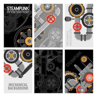 Design de brochuras de peças de maquinaria