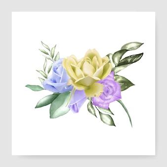Design de buquê de aquarela