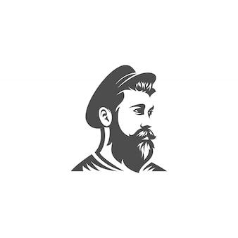 Design de cabeça de barba de marinheiro