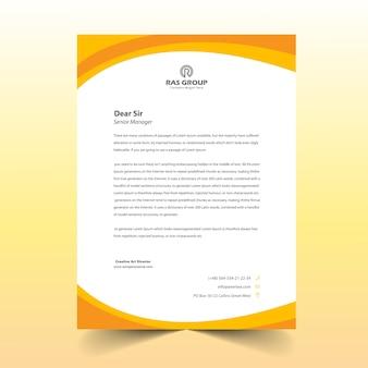 Design de cabeça de carta abstrato amarelo