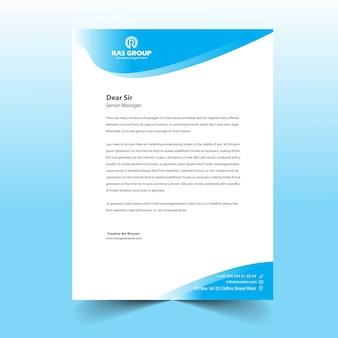 Design de cabeça de carta comercial para escritório