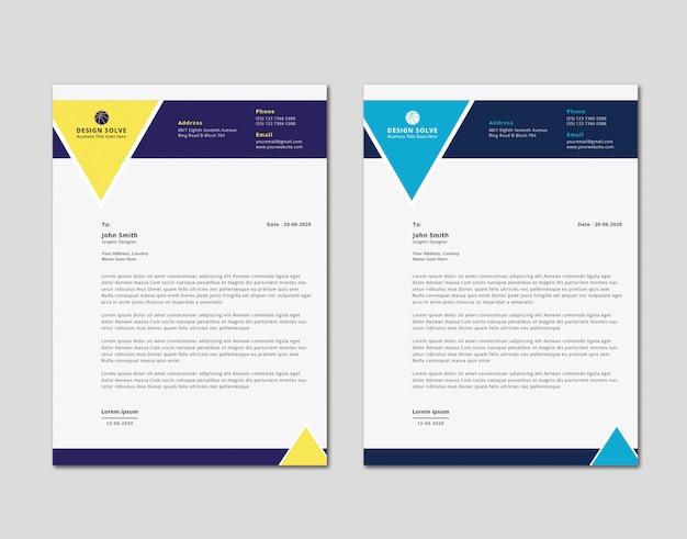 Design de cabeça de carta de negócios exclusivo moderno