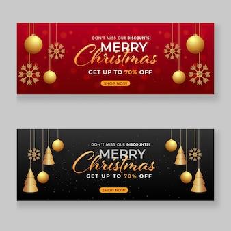 Design de cabeçalho ou banner de venda de feliz natal