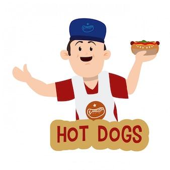 Design de cachorro-quente