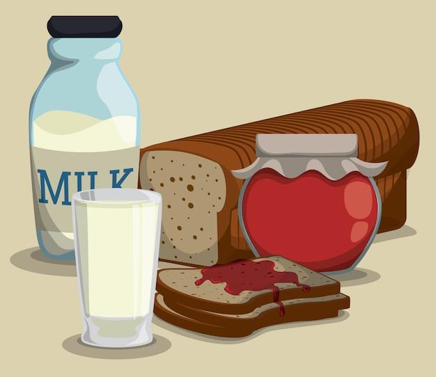 Design de café da manhã.
