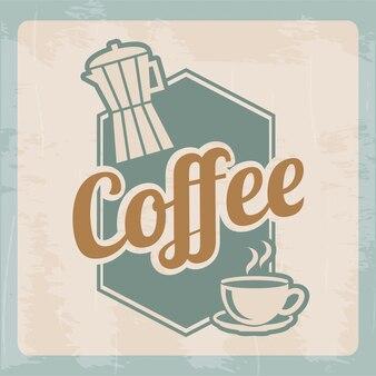Design de café sobre ilustração vetorial de fundo bege