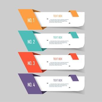 Design de caixa de texto com papéis de nota